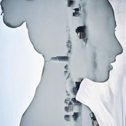 ircmodernity modernity freetoedit silhouette doubleexposure