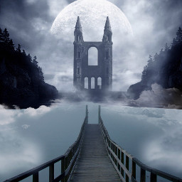 freetoedit madewithpicsart bridge mistery misty