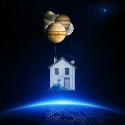 freetoedit galaxy earth house planets