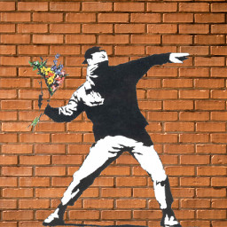 freetoedit banksy graffitiart art brickwall