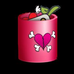 mq pink trash bin emoji