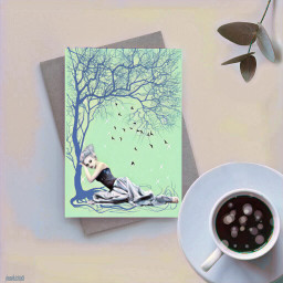 freetoedit greetingcard coffee leaves floramagiceffect