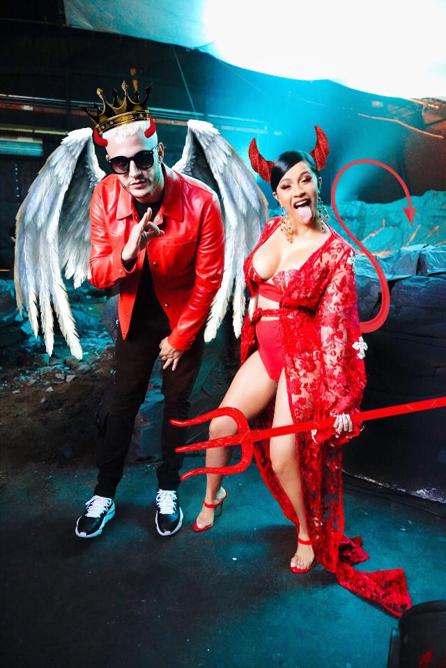 #freetoedit #djsnake #cardib #music #takitaki #takitakifanart #devil #art #editing #selenagomez #horns #devilhorns #vote #red #angel #ozuna #picsart #interesting #ectakitakifanart @djsnake @picsart