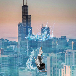 freetoedit underthesea underwater splash girl