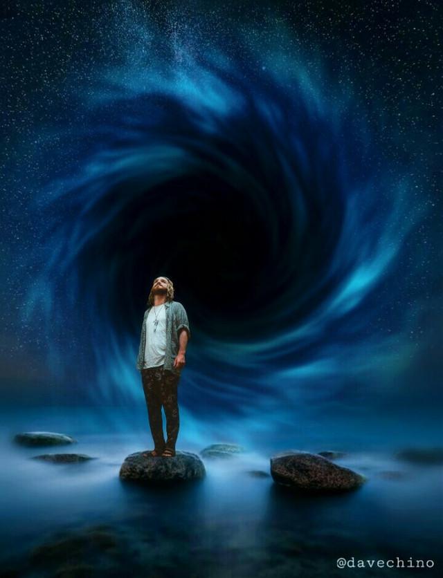 #standingalone #sea #water #stars #blackhole #man @freetoedit @picsart #myart #myedit