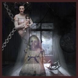 freetoedit darkart creepygirl