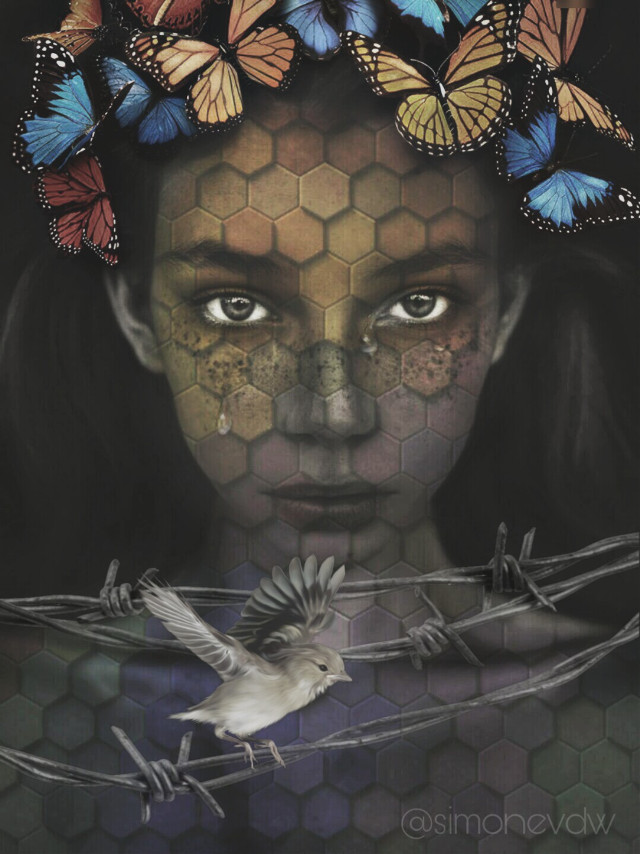 #editbyme #vipshoutout  #womanportrait #doubleexposure #plattern #artisticselfie #shapemask #imagination #remixed from @pskill