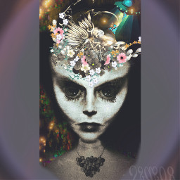 freetoedit aliean colors orb flowrrs dayofthedead