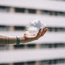 cloud hand magic tattoo sky freetoedit