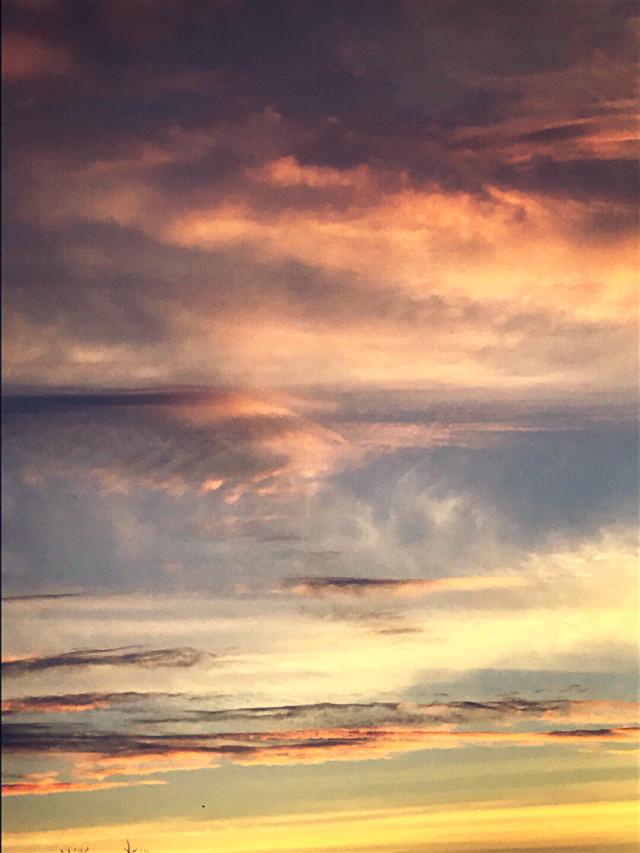 #freetoedit #skylovers #sunset #octobersky #clouds #beautifulnature