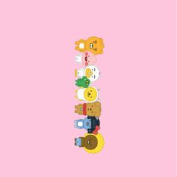 freetoedit kakaofriends littlefriends pink korea