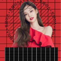 freetoedit jennie blackpink red girl