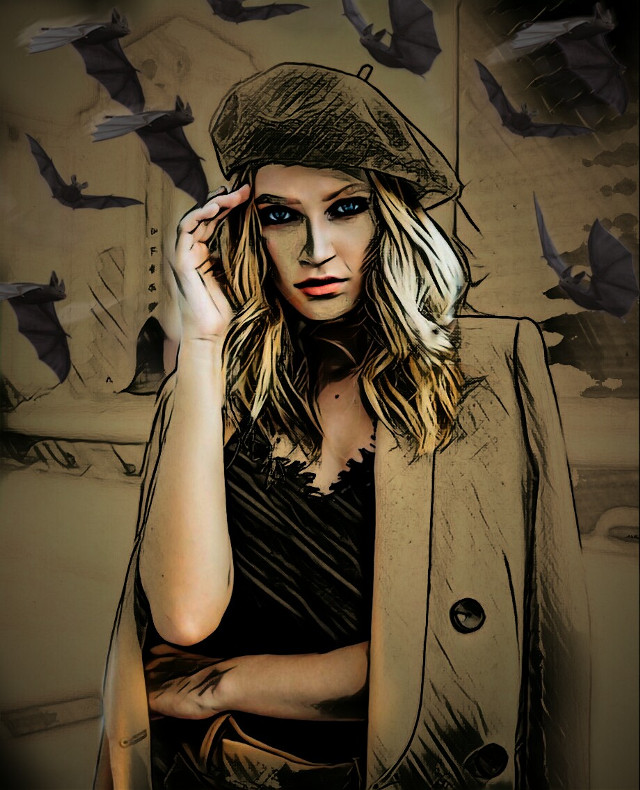 #freetoedit #madewithpicsart #portrait #woman #batsbrush