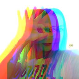 glich colorful artisticselfie