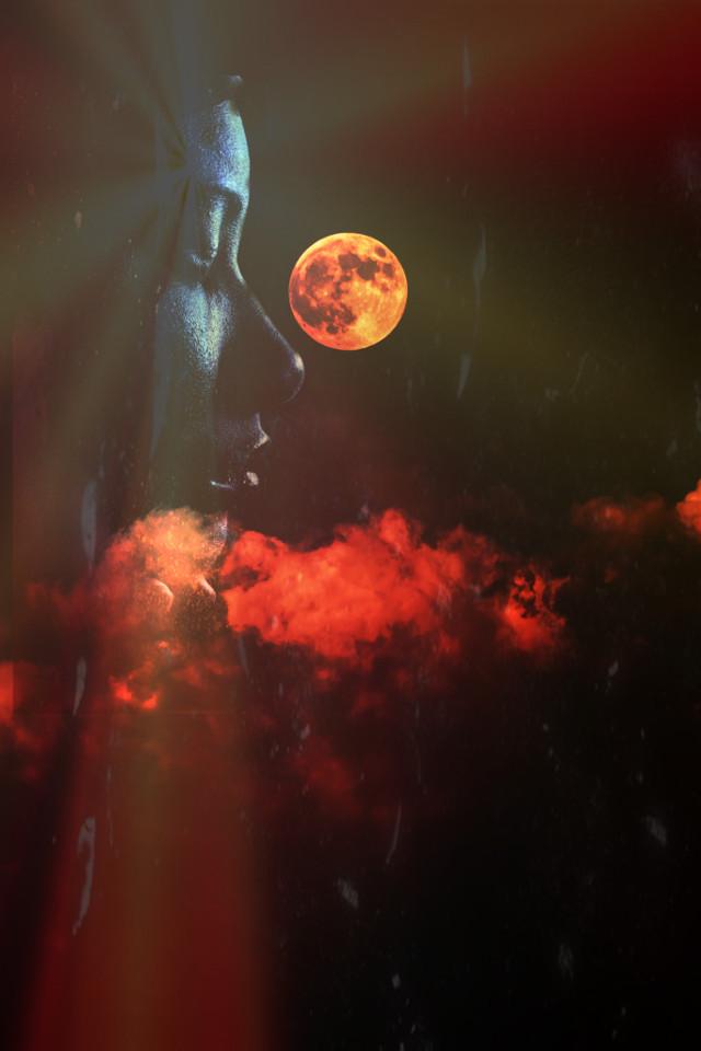 #freetoedit #moon #face #mond #fantasy