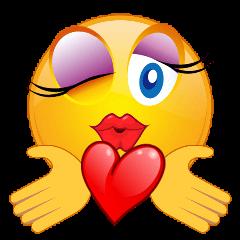 mq yellow head heart flirt