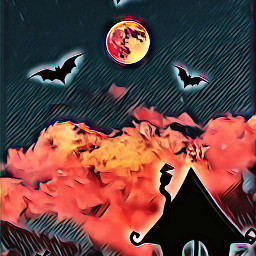 freetoedit halloween moon bats ircmajesticmoon