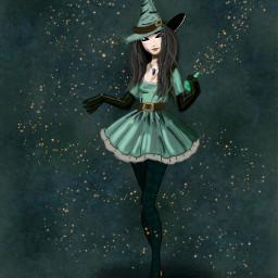 freetoedit dcwitch witch artsybackground halloweenart dcwitches