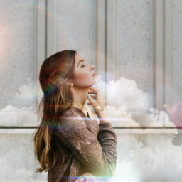 freetoedit cloud speed girl thinking