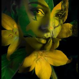 freetoedit face womanface myeditedphoto flower