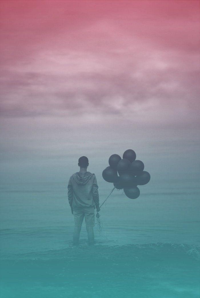 Myphoto man alone art