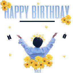 happybirthday jimin white yellow black freetoedit