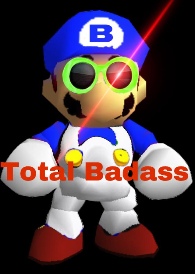 Badass Meme Mario Smg4 Sticker By Aj Holster