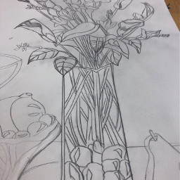 art flowers sketches drawings handdrawn