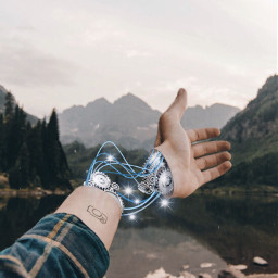 robot future cool hand freetoedit
