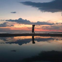 sunset reflectionsofwater twillight nature photography freetoedit