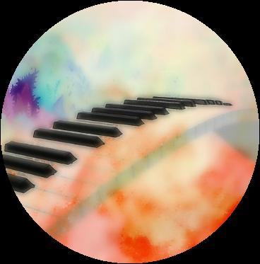 #music #colorful #piano #overlay #orange