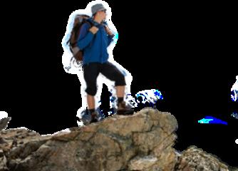 hiker hiking man freetoedit