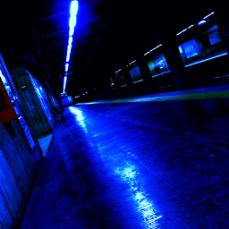blue bluecolor metro metrostation simple freetoedit