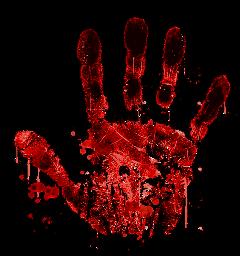 blood freetoedit handprint