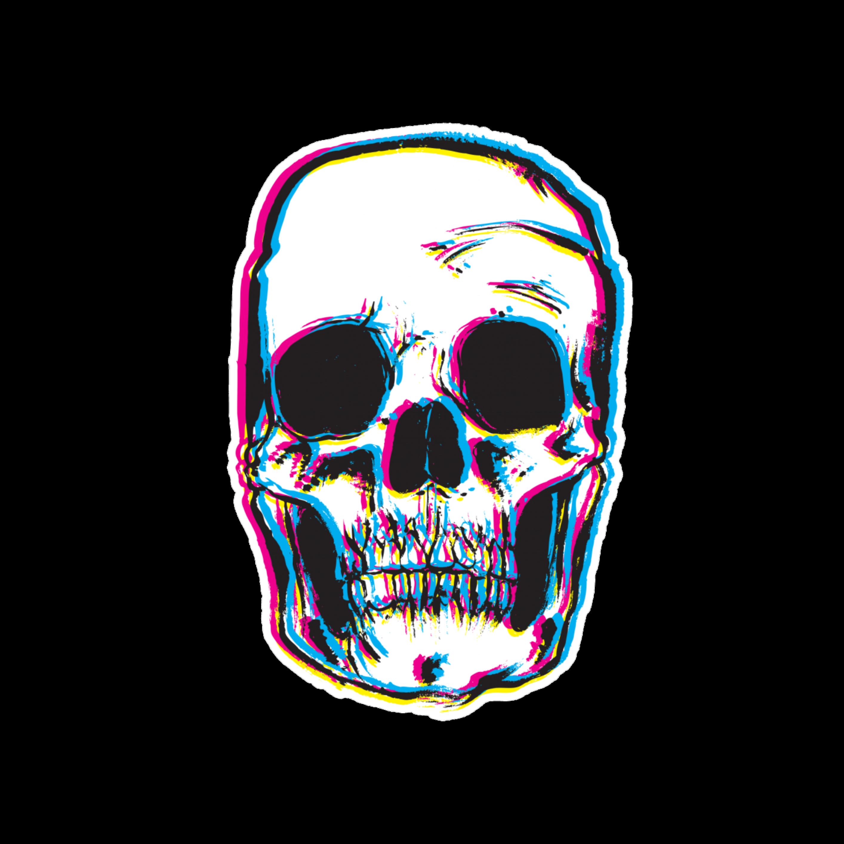 Skulls Tumblr Aesthetic: Aesthetic Tumblr Skull Glitch Chill Mood Cool Creepy