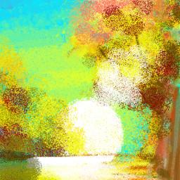 осень рисунок autumn colorpaint draw