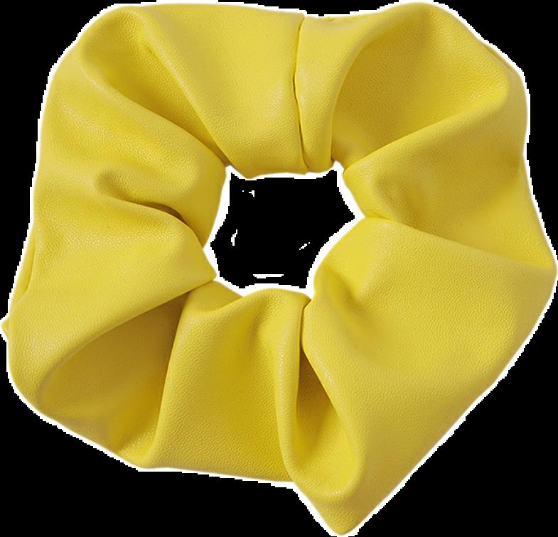 Scrunchie Yellow Aesthetic Cute
