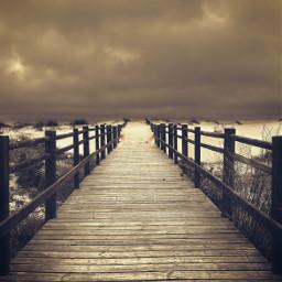 freetoedit vanishingpoint woodenpathtothebeach dramaticsky rainyclouds
