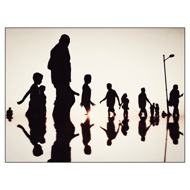 #silhouettes #street #reflection #mobilephotography