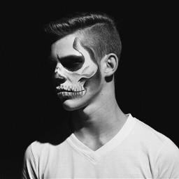 halloween tb skull zombyboy skullmakeup scary