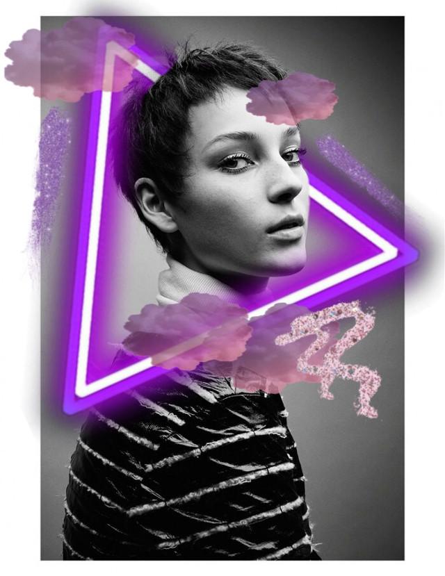 #freetoedit #purple #neon #model #glitter