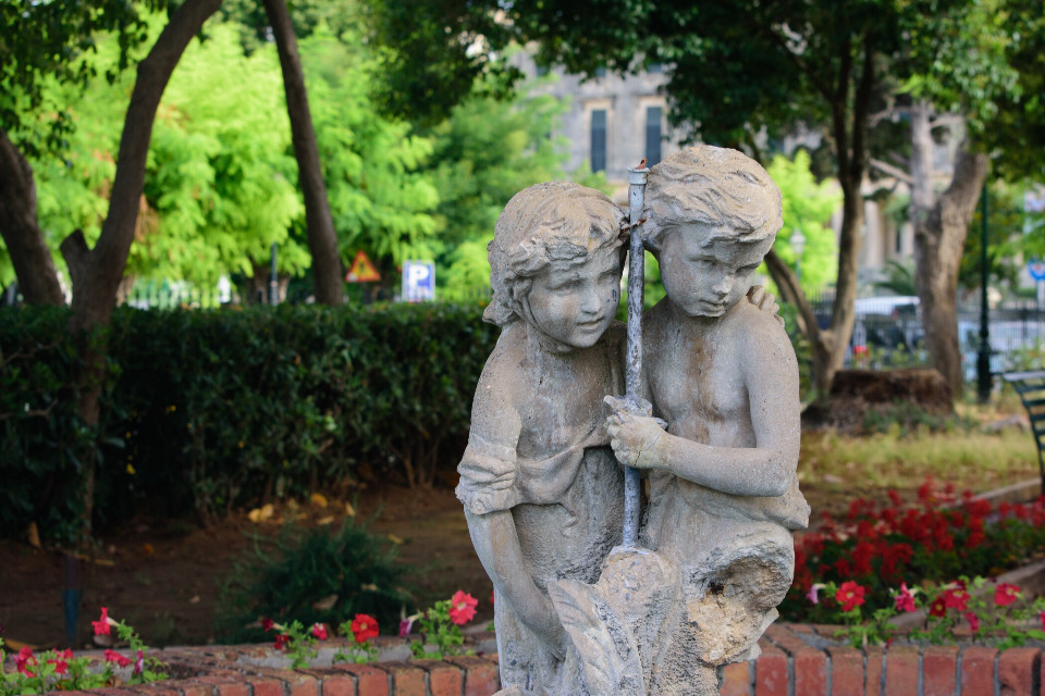 Lovely statues in the park along the coast. #corfu #freetoedit #statue