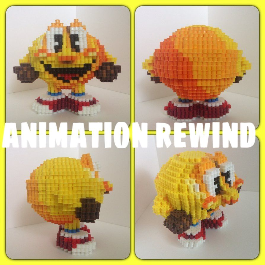 Pac-Man Hama Beads 3D By: Animation Rewind