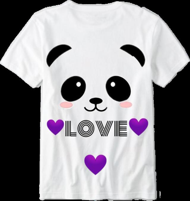 #panda #hearts