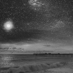 freetoedit sky sea stars universe