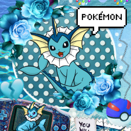 aesthetic pokemon vaporeon eeveelution blue