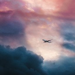 airplane plane sky background clouds freetoedit