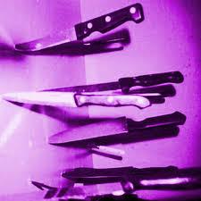 purple aesthetic yandere knife creepy