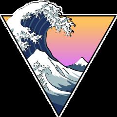 wave aesthetic arthoeaesthetic arthoe vaporwave freetoedit