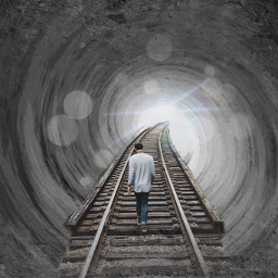 railroadtracks freetoedit railroadtrack tunnelview tonowhere